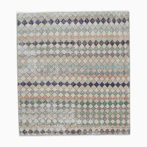Handgeknüpfter türkischer Vintage Teppich von Oushak aus Wolle