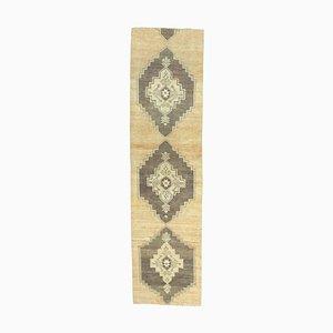 3x10 Türkischer Vintage Oushak Teppich aus Wolle