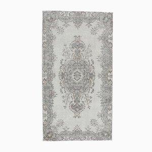 4x7 Vintage Middle East Oushak Handmade Wool Oriental Floral Rug