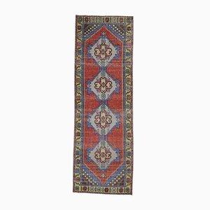 3x9 Türkischer Vintage Oushak Teppich aus Wolle in Rot