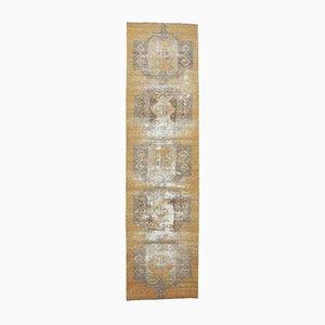 3x11 Vintage Turkish Oushak Handmade Burnt Wool Runner Rug