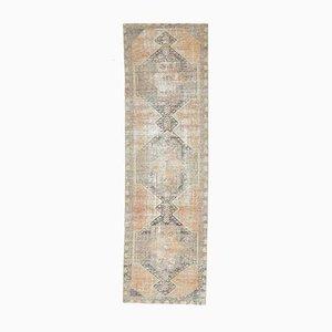 3x10 Vintage Turkish Oushak Handmade Wool Faded Runner Rug