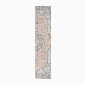 3x11 türkischer Vintage Oushak Teppich aus handgewebter Wolle