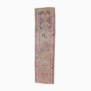 3x10 Vintage Turkish Oushak Handmade Wool Muted Runner Rug