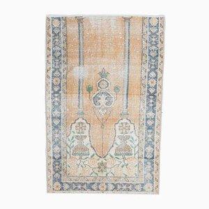 2x3 Vintage Turkish Oushak Meditation Rug Mini Carpet