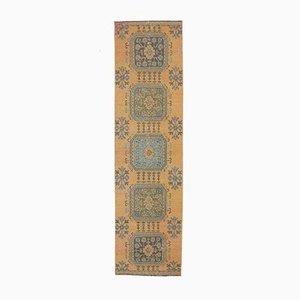 3x10 Vintage Turkish Oushak Handmade Orange Wool Runner Rug