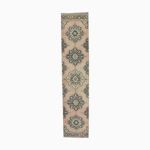 3x13 Türkisch Türkischer Vintage Oushak Läufer Teppich aus Wolle