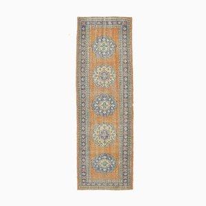 3x10 Vintage Turkish Oushak Handmade Wool Runner Rug