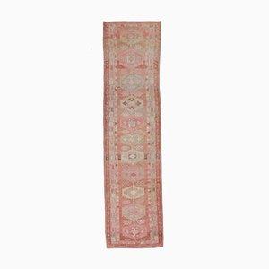 Türkischer Vintage Oushak Handgemacht Rosa Wollteppich, 3x11