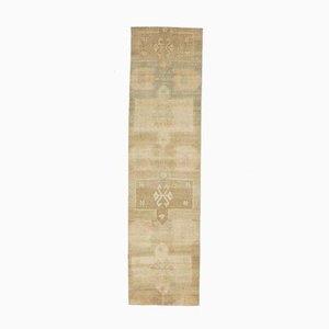 3x11 Türkischer Vintage Oushak Teppich in handgemachter Wolle