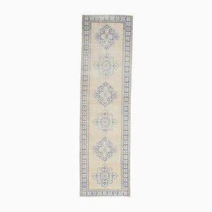 3x11 Antique Turkish Oushak Handmade Wool Faded Runner Rug