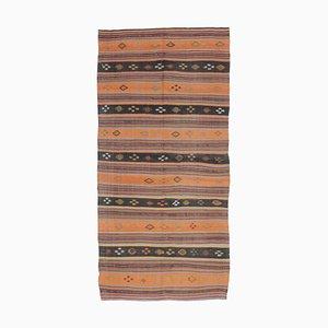 5x10 Vintage Turkish Oushak Handmade Kilim Area Rug in Orange