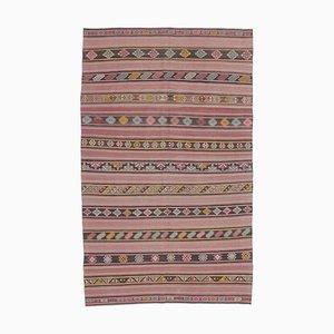 Handgewebter türkischer Vintage 5x8 Oulder Kelch Kelim Teppich