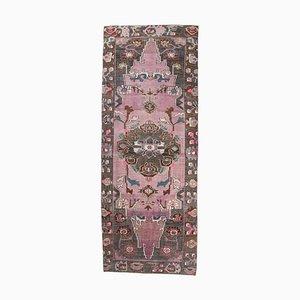 5x14 Türkischer Vintage Oushak Handgewebter Läufer Teppich aus Wolle