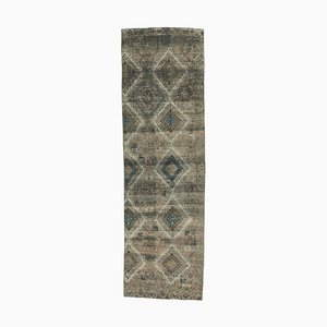 3x9 Vintage Turkish Oushak Handmade Wool Hallway Runner Rug