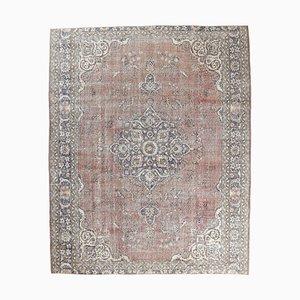 8x10 Vintage Middle East Oriental Red Oushak Handmade Wool Carpet
