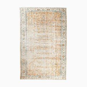 8x12 Vintage Turkish Oushak Handmade Wool Floral Carpet