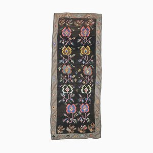 6x15 Vintage Turkish Oushak Handmade Wool Kilim Runner Rug