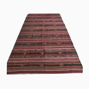 Tappeto Oushak fatto a mano in lana rossa, Turchia, 6x11