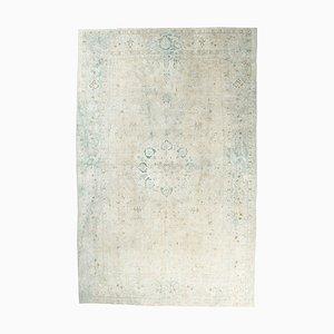 8x13 Antiker Türkischer Oushak Handgeknüpfter Boho Teppich aus Wolle