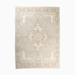 8x11 Boho Chic Vintage Handgeknüpfter Wollteppich im Nahen Osten
