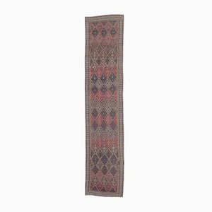 3x14 HAND-KNOTTED Vintage Turkish Oushak Runner Wool