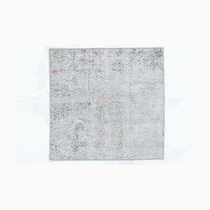 Tappeto Oshak vintage fatto a mano in lana, Turchia, 3x3 cm