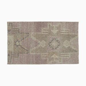 2x4 Vintage Turkish Oushak Rug Mini Carpet