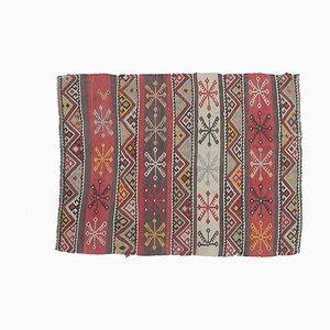 2x3 Türkischer Vintage Oushak Kelim Teppich Fußmatte oder Kleiner Teppich