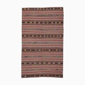 Tappeto Oushak fatto a mano in lana rossa, Turchia, 6x10
