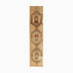 Handgeknüpfter Türkischer Vintage Oushak Wollflor Teppich mit 3x12 Feldern