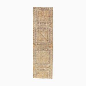 3x9 Vintage Turkish Oushak Handmade Wool Hallway Rug