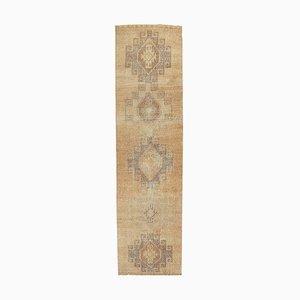 3x12 Vintage Turkish Oushak Handmade Wool Hallway Rug