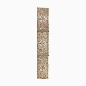 Tappeto vintage rosa fatto a mano, Turchia, 2x10