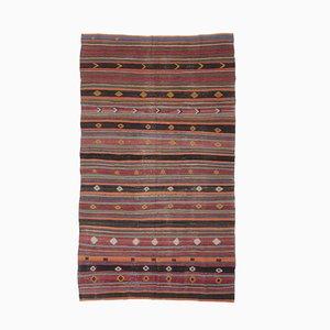 7x11 Vintage Turkish Oushak Handmade Red Wool Kilim Area Rug