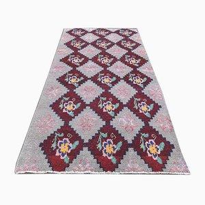 2x5 Vintage Turkish Oushak Doormat or Small Carpet