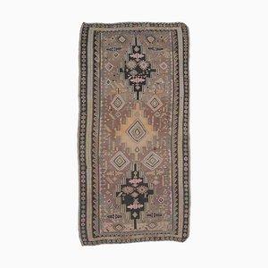 Handgewebter türkischer Vintage 6 × 11 Oushak Kelim Wollteppich aus Wolle