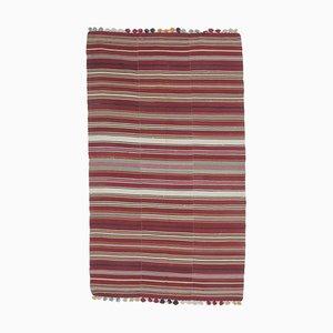 5x9 Vintage Turkish Oushak Handmade Wool Thin Kilim Area Rug