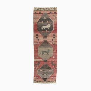 Türkischer Vintage 4x12 Oushak Teppich aus Wolle