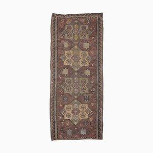 Handgeknüpfter türkischer Vintage 5x11 Ouschak Kelim Wollteppich