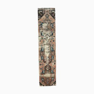 3x12 Antiker Türkisch Oushak Läufer aus Wolle in Braun