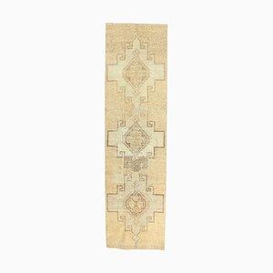 3x11 Türkischer Vintage Oushak Tribal Wollteppich