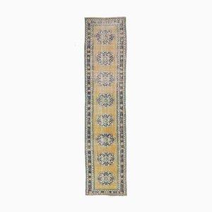 3x12 Antiker Türkischer Handgewebter Läufer aus Oushak Wolle