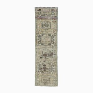 3x10 Antique Turkish Oushak Handmade Wool Faded Runner Rug