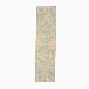 Tappeto antico Oushak 2x94 fatto a mano, lana