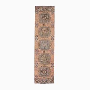 2x11 Vintage Turkish Oushak Handmade Wool Runner Rug