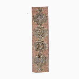 3x13 Türkischer Vintage Oushak Handgewobener Teppich aus weicher Wolle