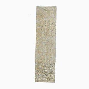 3x10 Antique Turkish Oushak Handmade Wool Faded Runner Rug