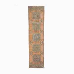 3x12 Orange Vintage Turkish Oushak Handmade Wool Runner Rug