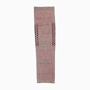 3x9 Handgeknüpfter türkischer Vintage Oushak Teppich aus Wolle